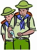 Graphic of young men hiking